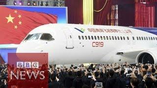 getlinkyoutube.com-China unveils passenger jet C919 - BBC News