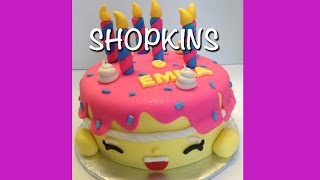 Shopkins Birthday Cake - Bright Colourful Fondant