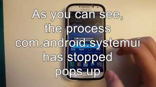 "How to fix ""The process com.android.systemui has stopped"""
