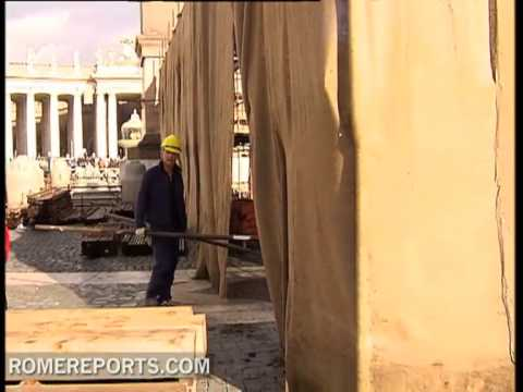 Vatican begins construction of Nativity scene