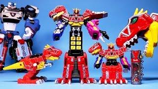 getlinkyoutube.com-파워레인저 다이노포스 티라노킹폰, 헬로카봇 또봇 장난감 Power Rangers Dino Charge kyoryuger mini toys