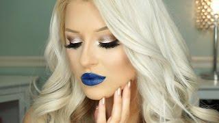getlinkyoutube.com-Neutral Glam & Bold Lip Makeup Tutorial