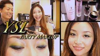 getlinkyoutube.com-必見!!イヴ・サンローランのトップアーティストに教わる新作コスメメイク!YSL Fall 2013 Party Makeup