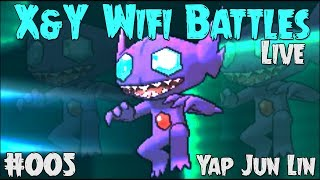 Pokemon X and Y Wifi Battle #005 (Live) Vs Yap Jun Lin - I HATE SABLEYE!