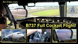 getlinkyoutube.com-Air Vanuatu Boeing 737-800 STUNNING Sydney Cockpit Landing with ATC and FULL FLIGHT! [AirClips]