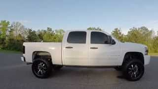 "getlinkyoutube.com-2008 Chevy 1500 with 5"" RCX on 295/60R20"