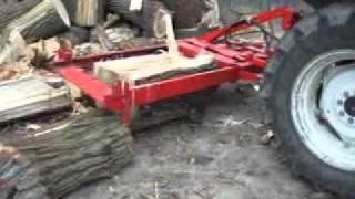 getlinkyoutube.com-Holzspalter 55 Tonnen, Eigenbau aus Teilen eines Staplermastes