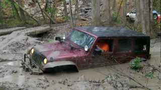 getlinkyoutube.com-Sayre Starr Motors in Suffolk, Virginia Jeep JK in mud hole VA4WDA 3-24-2012