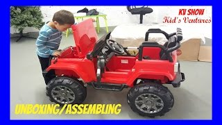 getlinkyoutube.com-Picking Up The Toy Surprise! Unboxing/Assembling Power Wheel Ride On Jeep Wrangler w/ Remote Control