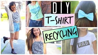 getlinkyoutube.com-DIY Ways to Upcycle and Recycle Old T-Shirts and Clothes | DIY Tumblr Graphic Tee