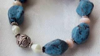 getlinkyoutube.com-Perle effetto pietra turchese (polymer clay tutorial)