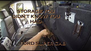getlinkyoutube.com-Easily Access Hidden Storage Behind the Rear Seat of a 2009 to 2014 Ford F150 Crew Cab