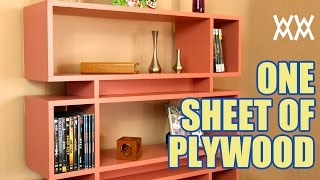 getlinkyoutube.com-Make a bookcase using a single sheet of plywood