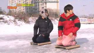 getlinkyoutube.com-running man ep.129 raching on ice