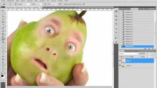 getlinkyoutube.com-Photoshop Tutorial :: Fotomontage Obstgesicht