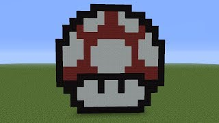 getlinkyoutube.com-minecraft: pixel art del honguito de mario bros (paso a paso)