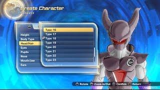 getlinkyoutube.com-Dragon Ball Xenoverse 2 All Character Creation Options! Majin, Earthlings, Saiyan, Namekian & Frieza
