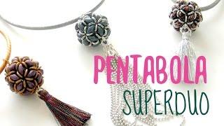 getlinkyoutube.com-Tecnica de Pentabola con cuentas Superduo