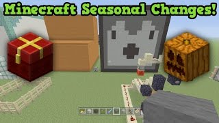 getlinkyoutube.com-Minecraft SPECIFIC TIME Features? - ALL Seasonal Events!