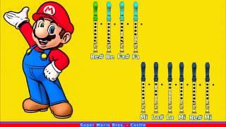 getlinkyoutube.com-Super Mario Bros. - Castle en Flauta Dulce con Notas