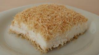 getlinkyoutube.com-Kanafeh with Pudding Recipe | Turkish Dessert