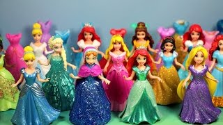 getlinkyoutube.com-NEW MAGICLIP Disney Princesses Collection with dresses & dolls Cinderela, Tiana, Ariel