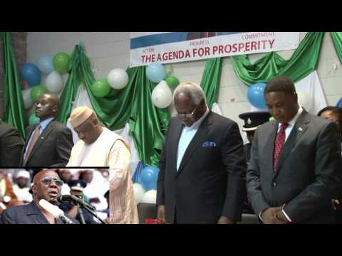 President Koroma Observes 1 minute silence for formal president Kabba