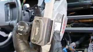 getlinkyoutube.com-BMW 745 750 - Ignition Key Start/Stop Button Module Removal