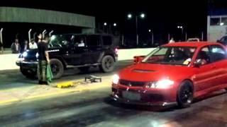 getlinkyoutube.com-Lancer EVO IX vs Jeep Wrangler Ls3