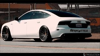 getlinkyoutube.com-Bagged Audi A7 3.0T with Armytrix Cat-Back Valvetronic Exhaust - LV Production