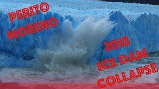 Perito Moreno Glacier Dam Collapse 2018 - 12 hours later, the glacier calved like crazy