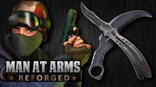 getlinkyoutube.com-Counter-Strike Knife Challenge - MAN AT ARMS: REFORGED