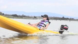 getlinkyoutube.com-Powerkayak Kayak Motorizado - Motorized Outboard Motor Kayak