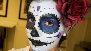 getlinkyoutube.com-Maquillaje Halloween: Catrina Mexicana | por Natalia Carballo