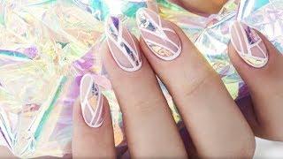 getlinkyoutube.com-Effect Foil Mermaid Indigo Nails :: Szklane paznokcie videolog :: How to make Glass Nails