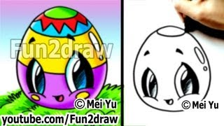 Kawaii - Easy Cute Things to Draw for Beginners - Easter Egg - Fun Things to Draw - Fun2draw