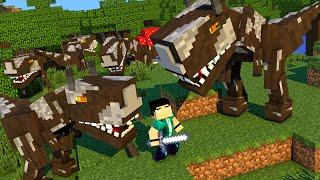 getlinkyoutube.com-Minecraft - DINOCRAFT! #1 O MUNDO DOS DINOSSAUROS!