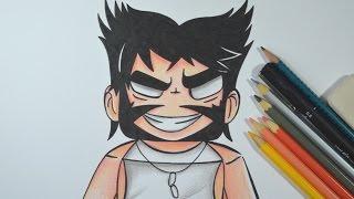 getlinkyoutube.com-Como desenhar Rezendeevil Wolverine de Minecraft passo a passo