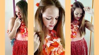 getlinkyoutube.com-Como hacer disfraz HAWAIANA, Falda y Collar.