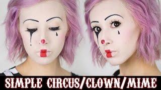getlinkyoutube.com-Simple Circus Makeup | HALLOWEEN 2014