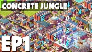 Let's Play Concrete Jungle Episode 1 - Tutorials! - Deck Building Puzzle Game