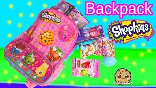 getlinkyoutube.com-Shopkins Backpack filled with My Little Pony, Monster High, Blind Bags, Toys - Cookieswirlc Video