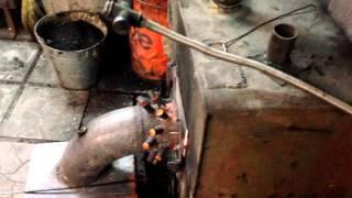 getlinkyoutube.com-Печь на отработке + твердотопливный котел / Oil burner + firewood boiler