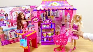 getlinkyoutube.com-Barbie Malibu Avenue Grocery Store/バービー人形のお店 スーパーマーケット