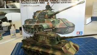 getlinkyoutube.com-Building the Tamiya King Tiger including Painting and weathering