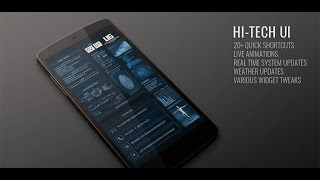 getlinkyoutube.com-Hi-Tech UI for Android (with Live Animations and Weather Info) [Updated]