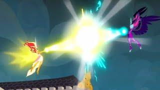 getlinkyoutube.com-Daydream Shimmer vs. Midnight Sparkle|| MLP: EG- Friendship Games