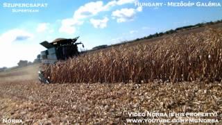 getlinkyoutube.com-Superteam - Autumnal Harvest 2012  {4x Claas Lexion, John Deere S680i}