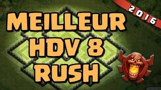getlinkyoutube.com-Meilleur Village HDV8 pour RUSH Champion | Clash of Clans Fr