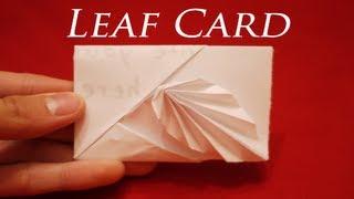 getlinkyoutube.com-How to make an Easy Origami Leaf Card - [[ HD ]]
